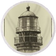 Petit Manan Lighthouse Round Beach Towel by Brian Caldwell