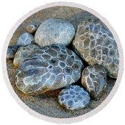 Petoskey Stones Round Beach Towel