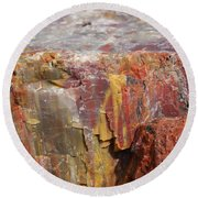 Petrified Wood 2 Round Beach Towel