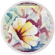Petunia Array Round Beach Towel