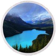 Peyto Lake Banff National Park Majestic Beauty Round Beach Towel
