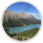 Peyto Lake Round Beach Towel