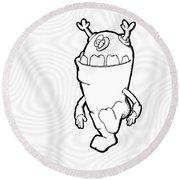 Phaart Round Beach Towel by Uncle J's Monsters