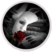 Phantom Of The Opera Round Beach Towel