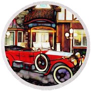 Phantom Rolls Royce 1935 Round Beach Towel