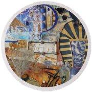 Pharaonic Fantasies Round Beach Towel