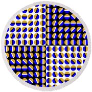 Phases Round Beach Towel