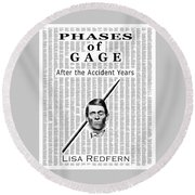 Phases Of Gage Book Poster  Round Beach Towel