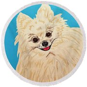 Phebe Date With Paint Nov 20th Round Beach Towel