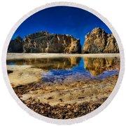 Round Beach Towel featuring the photograph Pheiffer Beach #15 - Big Sur, Ca by Jennifer Rondinelli Reilly - Fine Art Photography