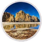 Round Beach Towel featuring the photograph Pheiffer Beach - Keyhole Rock #16 - Big Sur, Ca by Jennifer Rondinelli Reilly - Fine Art Photography