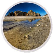 Round Beach Towel featuring the photograph Pheiffer Beach -keyhole Rock #18 - Big Sur, Ca by Jennifer Rondinelli Reilly - Fine Art Photography