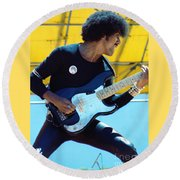 Phil Lynott Of Thin Lizzy-black Rose Tour Day On The Green 7-4-79 - New Unreleased   Round Beach Towel