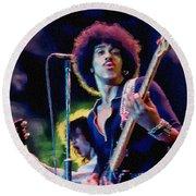 Phil Lynott - Thin Lizzy Round Beach Towel
