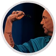 Phil Taylor The Power Round Beach Towel