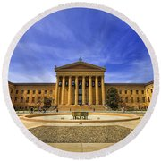 Philadelphia Art Museum Round Beach Towel