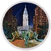 Philadelphia City Hall Round Beach Towel