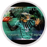 Philadelphia Eagles - Super Bowl Champs Round Beach Towel