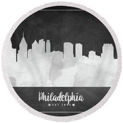 Philadelphia Est 1682 - Uspaph03 Round Beach Towel by Aged Pixel