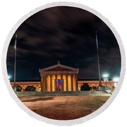 Round Beach Towel featuring the photograph Philadelphia Museum Of Art by Marvin Spates