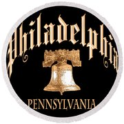 Philadelphia Pennsylvania Design Round Beach Towel