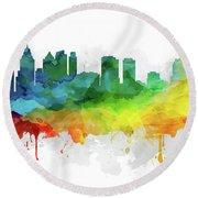Philadelphia Skyline Mmr-uspaph05 Round Beach Towel by Aged Pixel