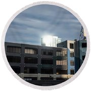 Round Beach Towel featuring the photograph Philadelphia Urban Landscape - 1195 by David Sutton