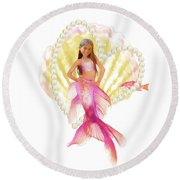 Philippine Mermaid Round Beach Towel