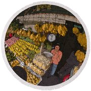 Philippines 3575 Saging Sales Lady Round Beach Towel