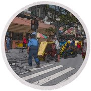 Philippines 906 Crosswalk Round Beach Towel