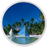 Philippines, Boracay Isla Round Beach Towel
