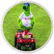 Phillie Phanatic Scooter Round Beach Towel
