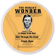 Phineas Gage World's Wonder Round Beach Towel
