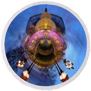 Phipps Conservatory Little Planet  Round Beach Towel