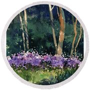 Phlox Meadow, Harrington State Park Round Beach Towel