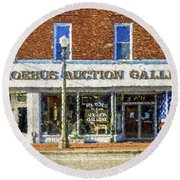 Phoebus Auction Gallery Round Beach Towel by Jerry Gammon