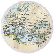 Phoenician Colonies And Area Of Round Beach Towel