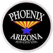 Phoenix Arizona Design Round Beach Towel