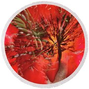 Round Beach Towel featuring the photograph Photo Sin Thesis by Susan Capuano