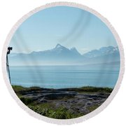Photograph In Norway Round Beach Towel