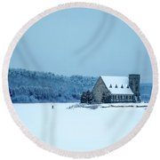 Photographer On Thin Ice Round Beach Towel