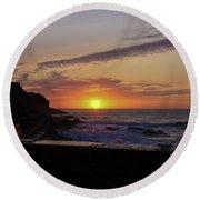 Photographer's Sunset Round Beach Towel by Terri Waters