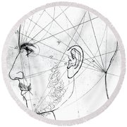 Phrenological Study Round Beach Towel