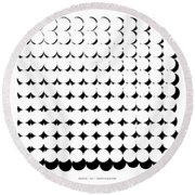 Pi Approximate Packing Of Circles Round Beach Towel