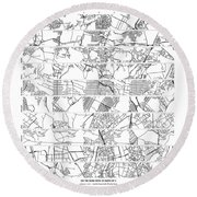 Pi Cities From 10 Digits Of Pi Round Beach Towel
