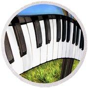 Piano Land Round Beach Towel