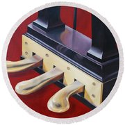Piano Pedals Round Beach Towel
