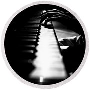 Piano Player Round Beach Towel