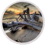 Pic Driftwood Round Beach Towel