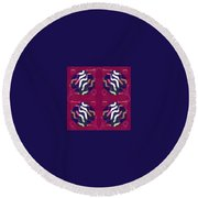 Pic10_coll1_14022018 Round Beach Towel
